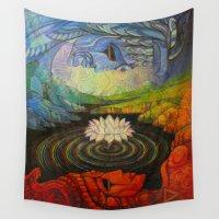 maori Wall Tapestries featuring Earth-and-Sky by Waelad Akadan