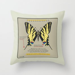 Scarce Svallowtail (Iphiclide Podalirius) Throw Pillow