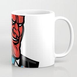 Devil American Businessman Mascot Coffee Mug
