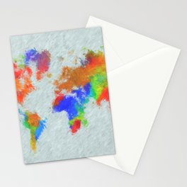 Design 78 World Map Stationery Cards