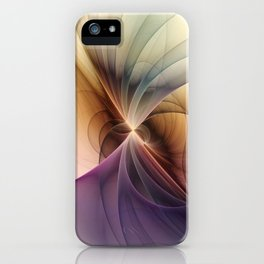 Colors Of My Life, Modern Fractal Art iPhone Case