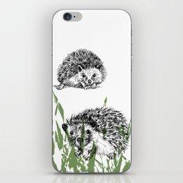 Hedgehogs print iPhone Skin