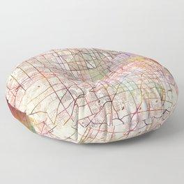 Milwaukee map Wisconsin Floor Pillow