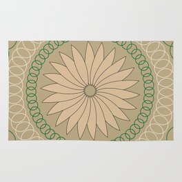 Kiwi inspired Pattern Rug