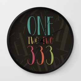 1 2 3 One Two Three Wall Clock