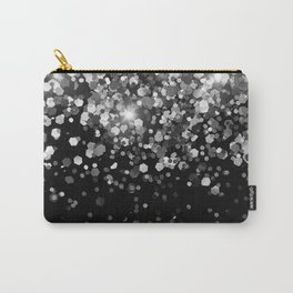Silver Gray Black Glitter #3 (Faux Glitter - Photography) #shiny #decor #art #society6 Carry-All Pouch