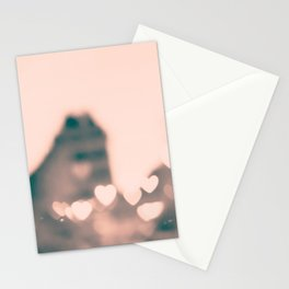 Paris heart bokeh at le Marais Stationery Cards