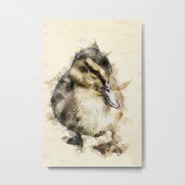 Easter Duckling Metal Print