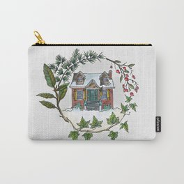Snowbound Cottage Carry-All Pouch