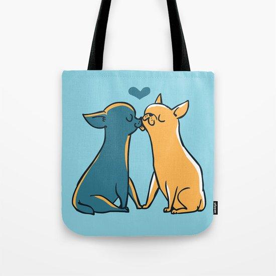Chihuahua Kisses Tote Bag