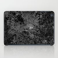 north carolina iPad Cases featuring raleigh map north carolina by Line Line Lines