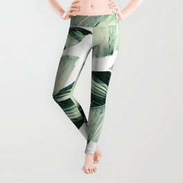 Tropical Banana Leaves Vibes #1 #foliage #decor #art #society6 Leggings