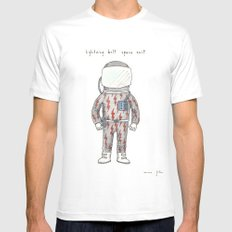 lightning bolt space suit MEDIUM White Mens Fitted Tee