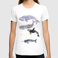 whales T-shirts featuring WHALES by Shannon Kirsten