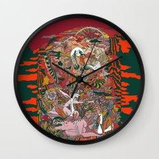 WIND THE SWAN Wall Clock