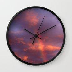 Dramatic Rainbow Wall Clock