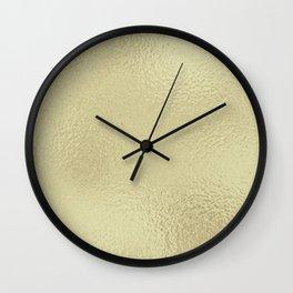 Simply Metallic in White Gold Wall Clock