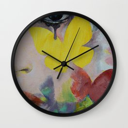 Heart Obscured by the Moon Wall Clock