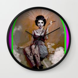 The Amazing Tattooed Lady Advertising Poster Print Wall Clock