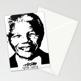 Nelson Mandela 1918 - 2013 And Beyond - Motivation - sticker - tshirt - poster - Madiba Stationery Cards