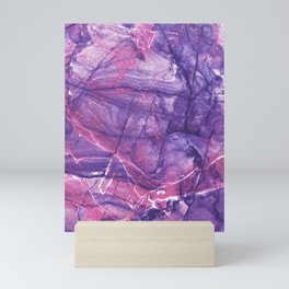 Smokey Ultra Violet and Pink Marble Mini Art Print