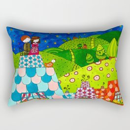 The Shepherdess and the Chimney Sweep Rectangular Pillow
