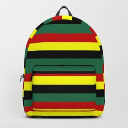ghana flag stripes Backpack