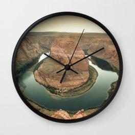 canyon country flow horseshoe bend arizona Wall Clock
