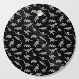 DINOSAURS (BLACK) Cutting Board