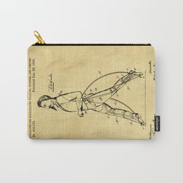 Old Patent Drawing Carry-All Pouch