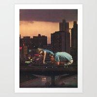 atlanta Art Prints featuring atlanta by Jesse Treece
