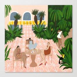 Au Café de la Jungle Canvas Print