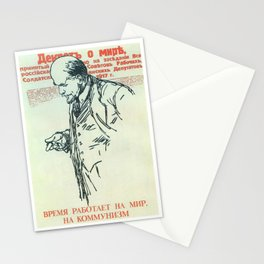 Russia, URSS Vintage poster Stationery Cards