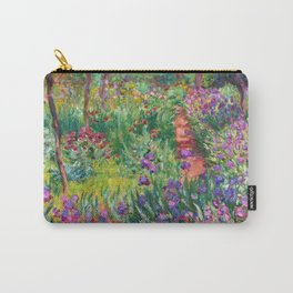 Claude Monet - The Iris Garden At Giverny Carry-All Pouch