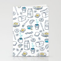 breakfast Stationery Cards featuring BreakfasT by Ceren Aksu Dikenci