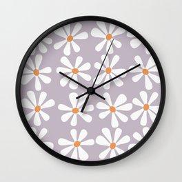 Kawaii flowers Wall Clock