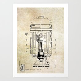 R2-D2  Patent Art Print