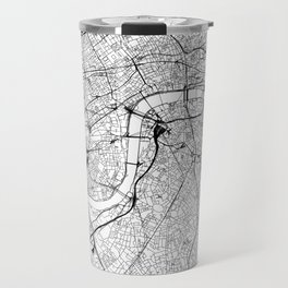 London White Map Travel Mug