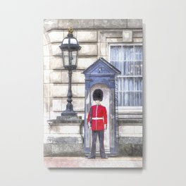 Buckingham Palace Queens Guard Art Metal Print