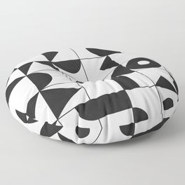 My Favorite Geometric Patterns No.10 - White Floor Pillow