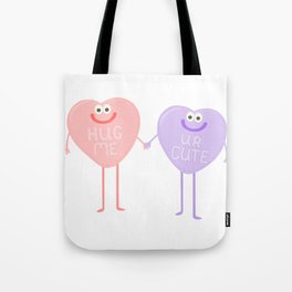 Candy Sweethearts  Tote Bag