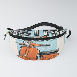 Retro Scooter Fanny Pack