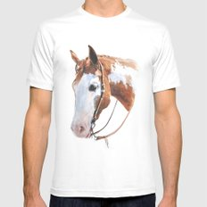 Western Horse Mens Fitted Tee MEDIUM White