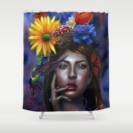 Mind Blown Oil Painting Shower Curtain