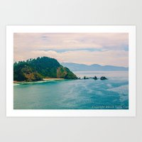 west coast Art Prints featuring West Coast by ToniC Art