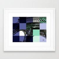 eiffel Framed Art Prints featuring EIFFEL by Marcela Solana