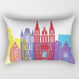Angers skyline pop Rectangular Pillow