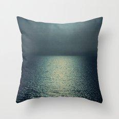 sea - sunset blue Throw Pillow