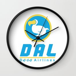 Dodo Airlines Wall Clock