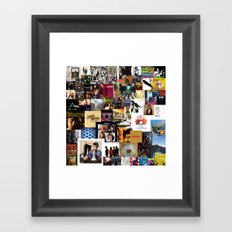 Classic Rock And Roll Albums Collage Framed Art Print